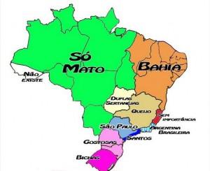 Mapa do Brasil segundo os paulistas