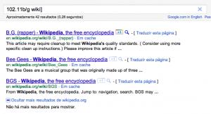 Tela do Google mostrando uma pesquisa não relacionada e um bug